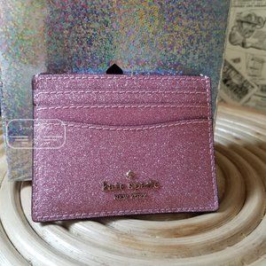 Kate Spade Small Boxed Slim Card Holder Pink Rose